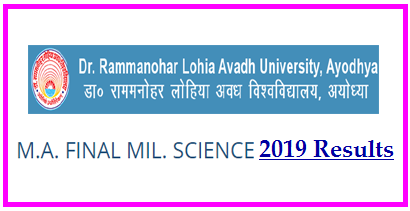 RMLAU MA MIL Science Final Result 2019