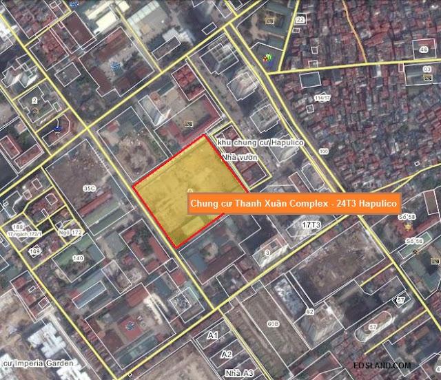 Vị trí Thanh Xuân Complex - 24T3 Hapulico Lê Văn Thiêm