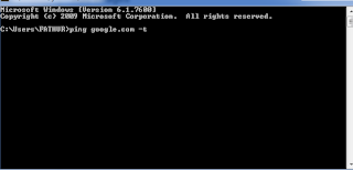 Ping Internet CMD(Command Prompt)