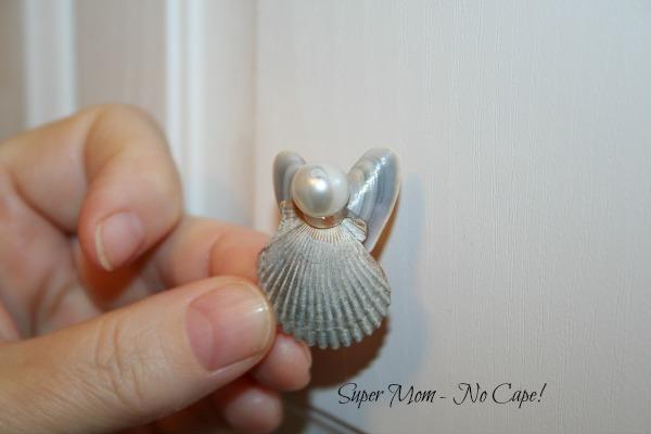 Como fazer anjos de conchas do mar para decoração