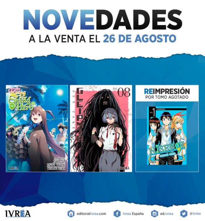 Novedades Ivrea 26 de agosto 2021 - manga