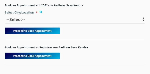 book appointment aadhar