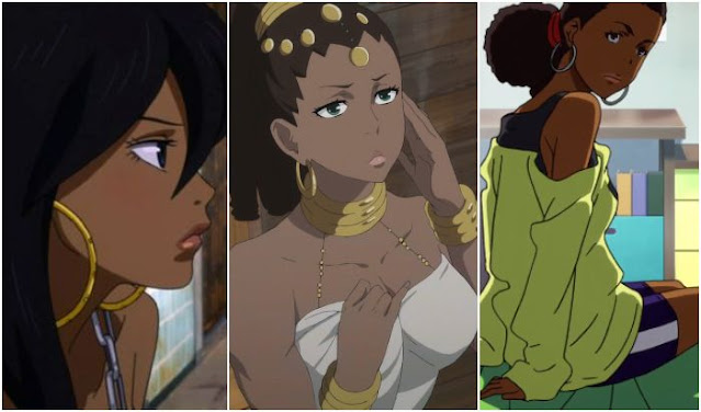 black anime girls