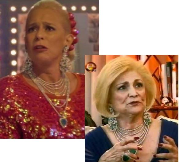 Hebe (Andrea Beltrão) no filme jóias