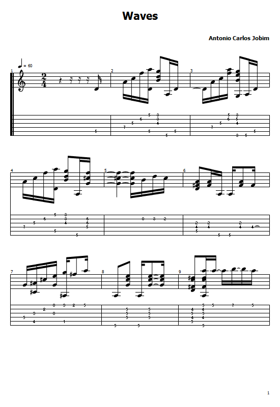 Waves Tabs Roland Dyens. Waves On Guitar, Antonio Carlos Jobim - Waves Free Tabs/ Roland Dyens - Waves Guitar Chords. Antonio Carlos Jobim