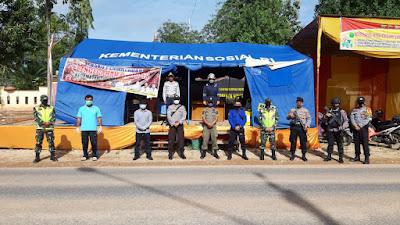 Antisipasi Penyebaran Covid-19 Provinsi Jambi, Sat Brimob Polda Jambi Turunkan Personil Satgas Pekat Pengamanan Perbatasan