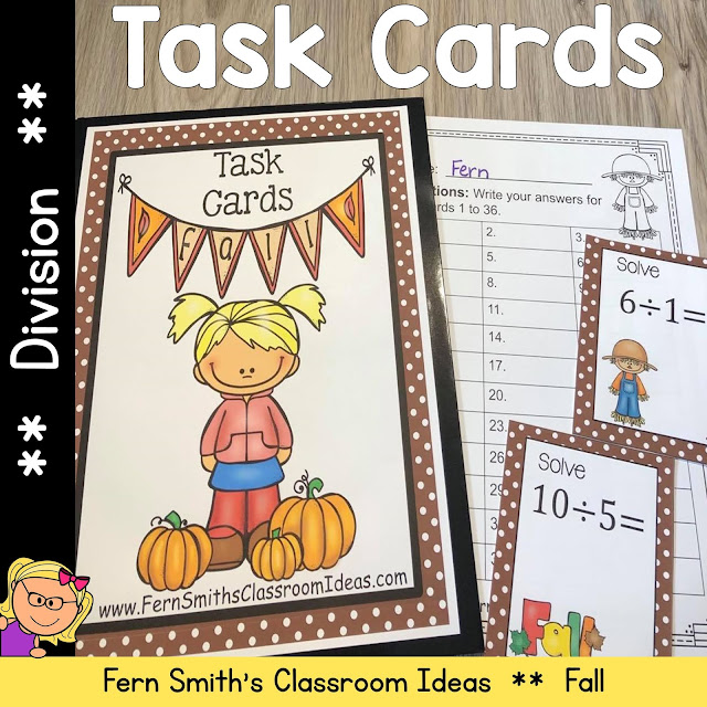Fall Division Task Cards
