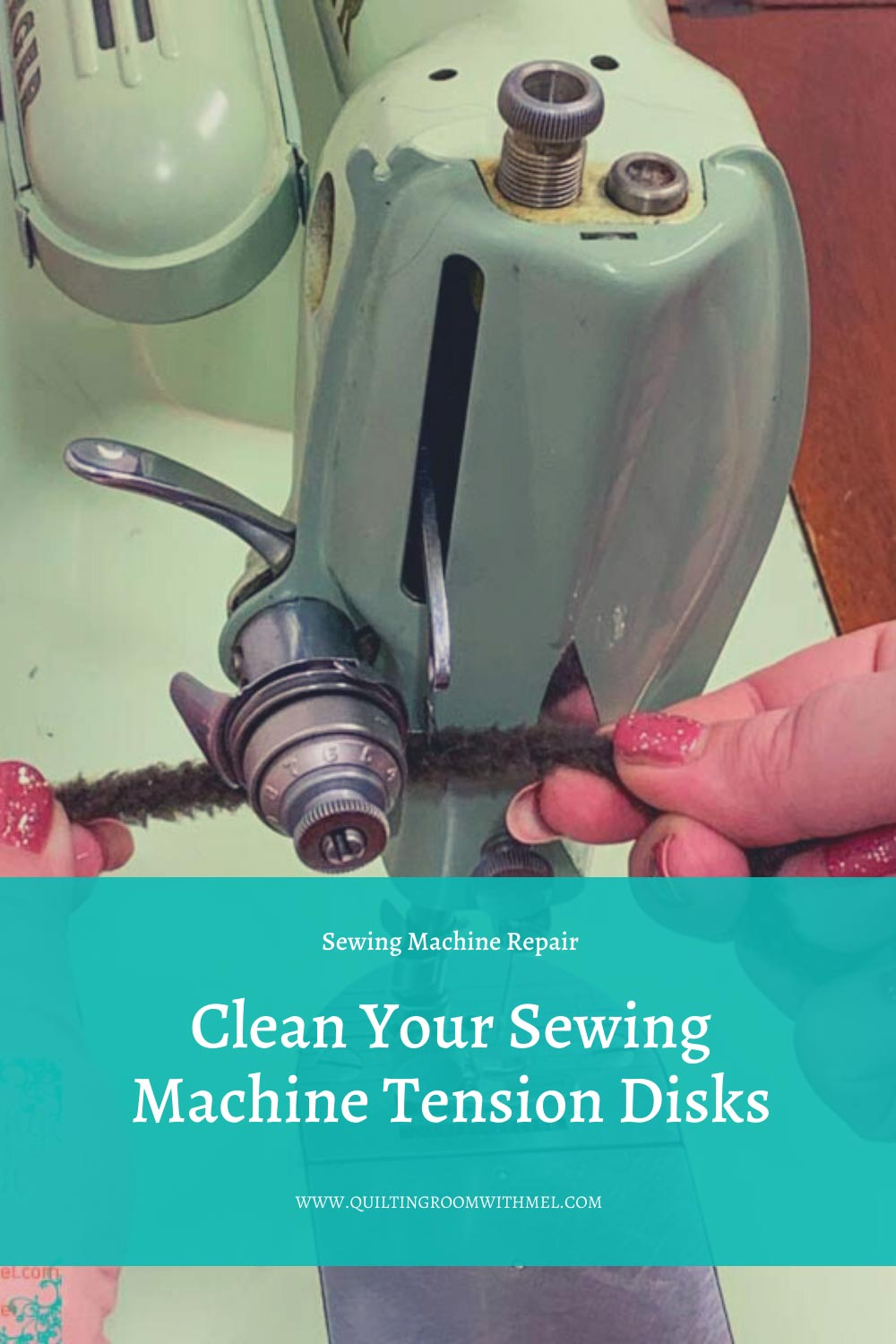 Learn how to clean the tension disks on your sewing machine without taking them apart.