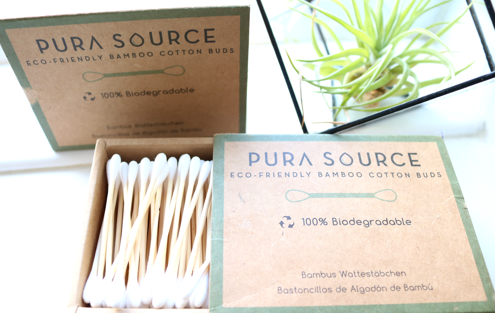 Pura Source Eco-Friendly Bamboo Cotton Buds