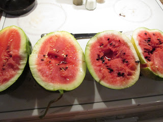 Watermelons from our garden