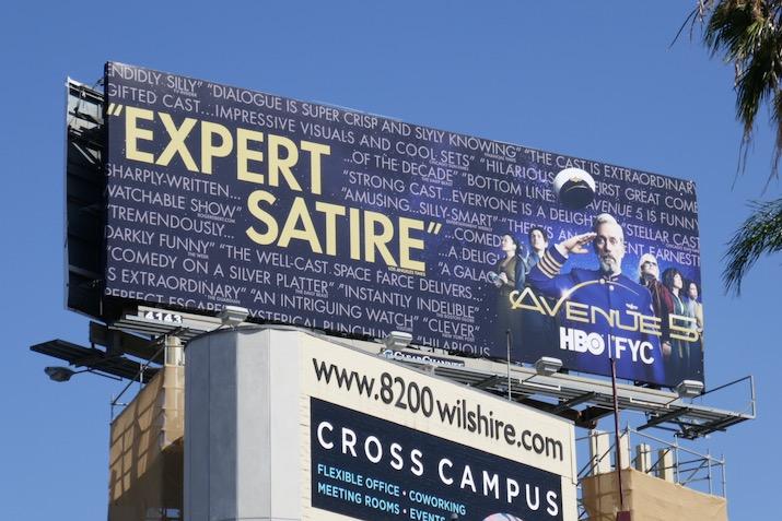 Avenue 5 Expert Satire Emmy FYC billboard