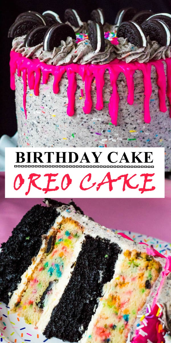 BIRTHDAY CAKE OREO CAKE #cakerecipes