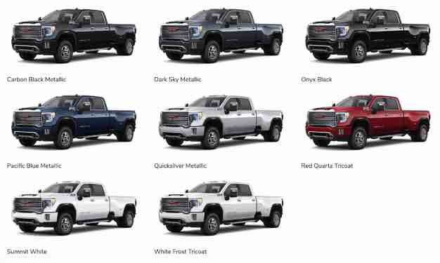 2020 GMC Sierra Colors