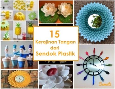 15 Kerajinan Tangan dari Sendok Plastik