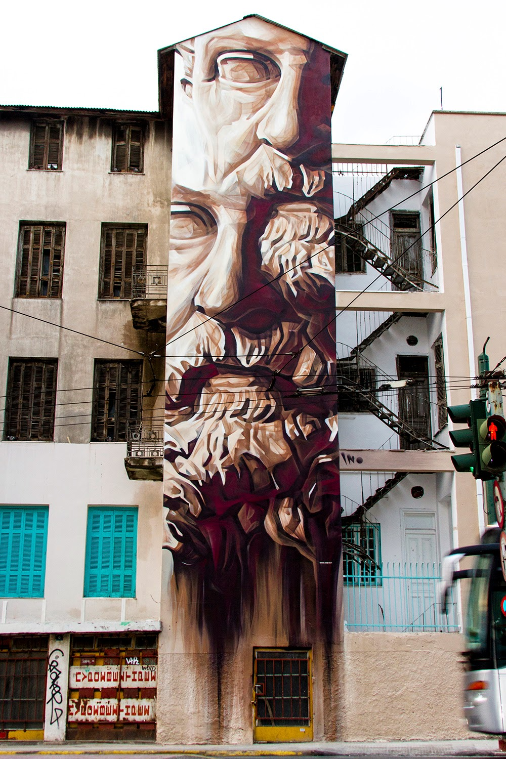 """iNO """"System of a Fraud"""" New Mural - Athens, Greece ..."""