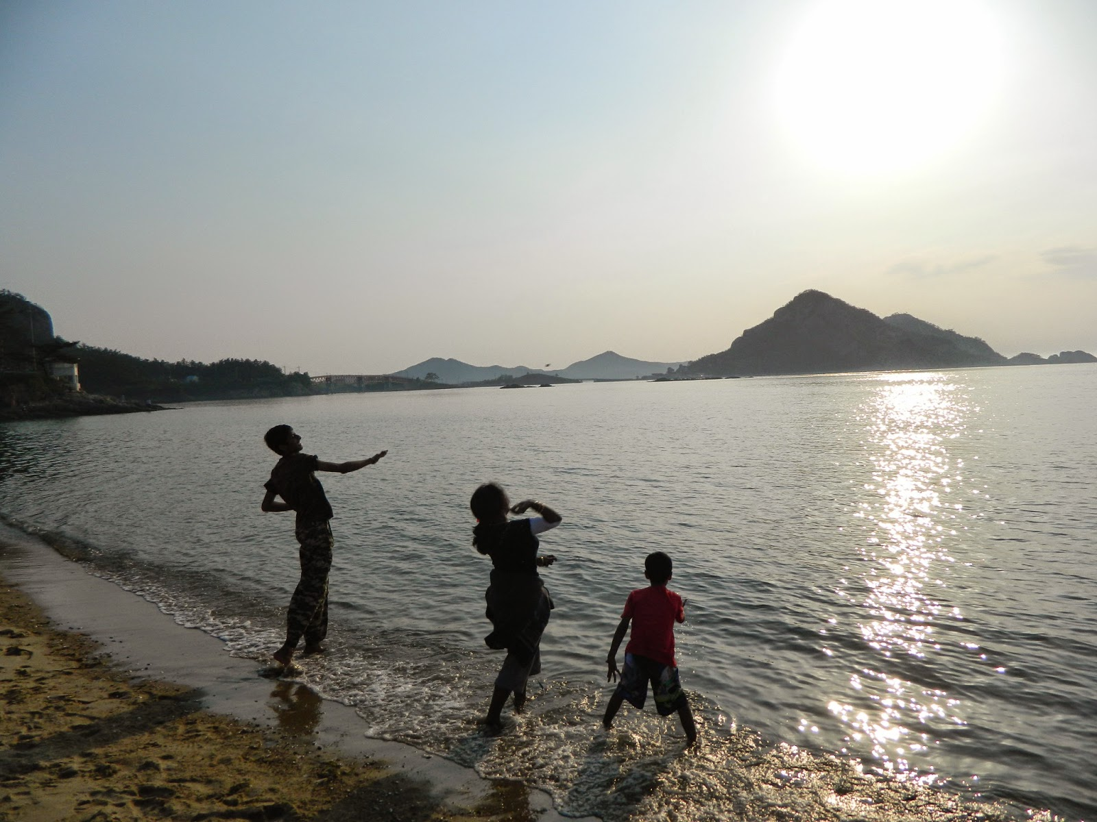 Playful times in Jeju beach