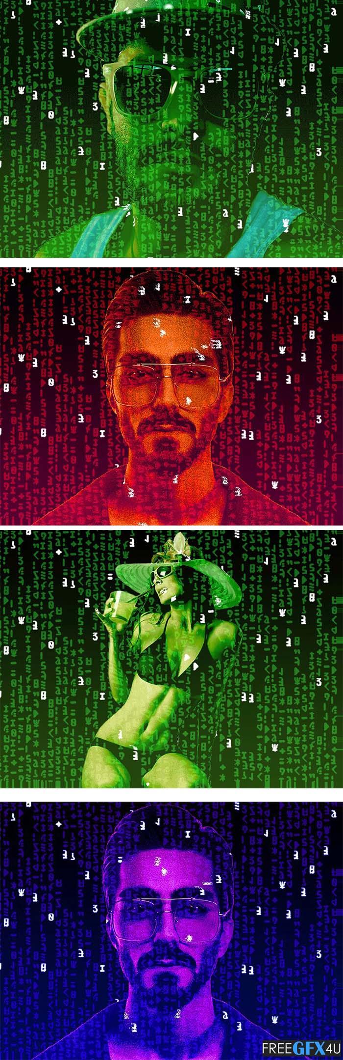 Matrix Effect Gif Photoshop Action