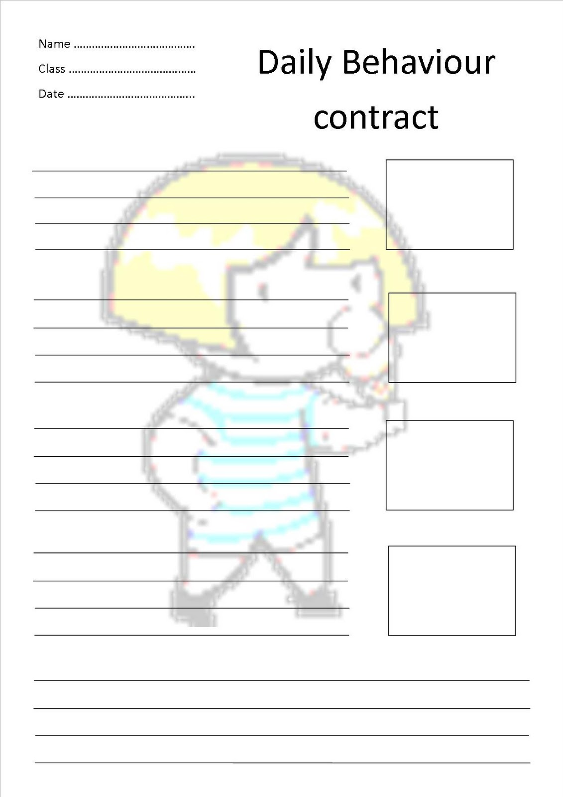 Special Education Matters Sem Daily Behaviour Contracts