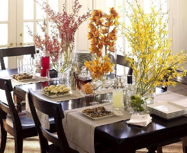 How To Decorate A Buffet: ~ Delicious Decor ~: Thanksgiving Table Decorating Ideas