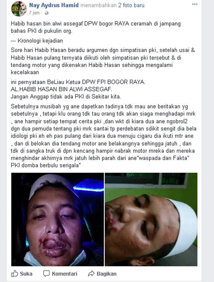 Ketua FPI Bogor Raya Habib Hasan bin Alwi Assegaf Diserang Usai Ceramah di Jampang!