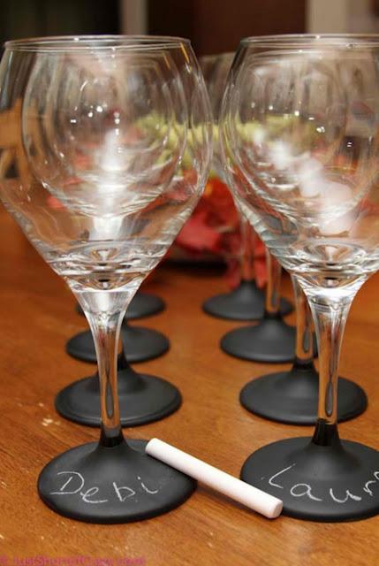 verre a vin décoratif