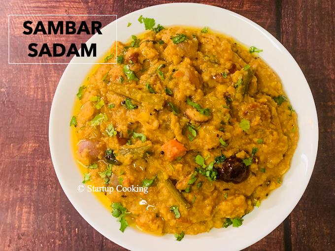 Sambar Rice Recipe | Sambar Sadam Recipe | Startup Cooking