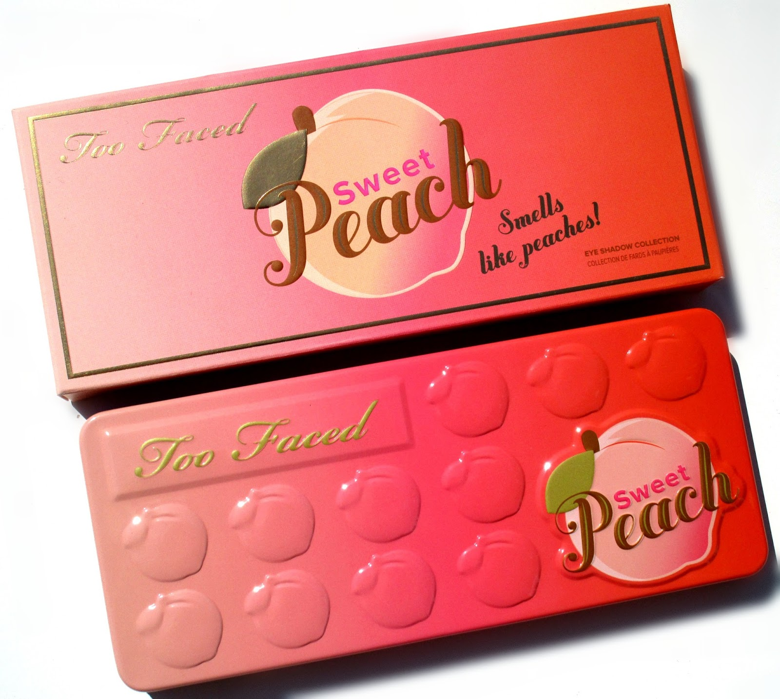 haysparkle too faced sweet peach eyeshadow palette review. Black Bedroom Furniture Sets. Home Design Ideas