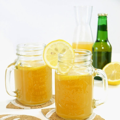 Fruity Beer Cocktail Recipe & DIY Football Coasters