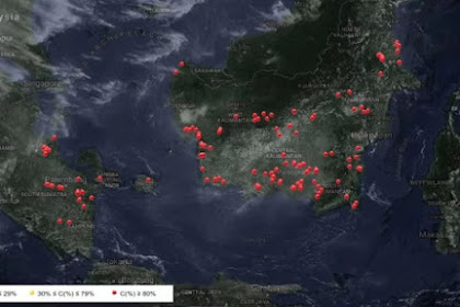 Ini Sebaran Titik Api di Indonesia dari Satelit Khusus Karhutla