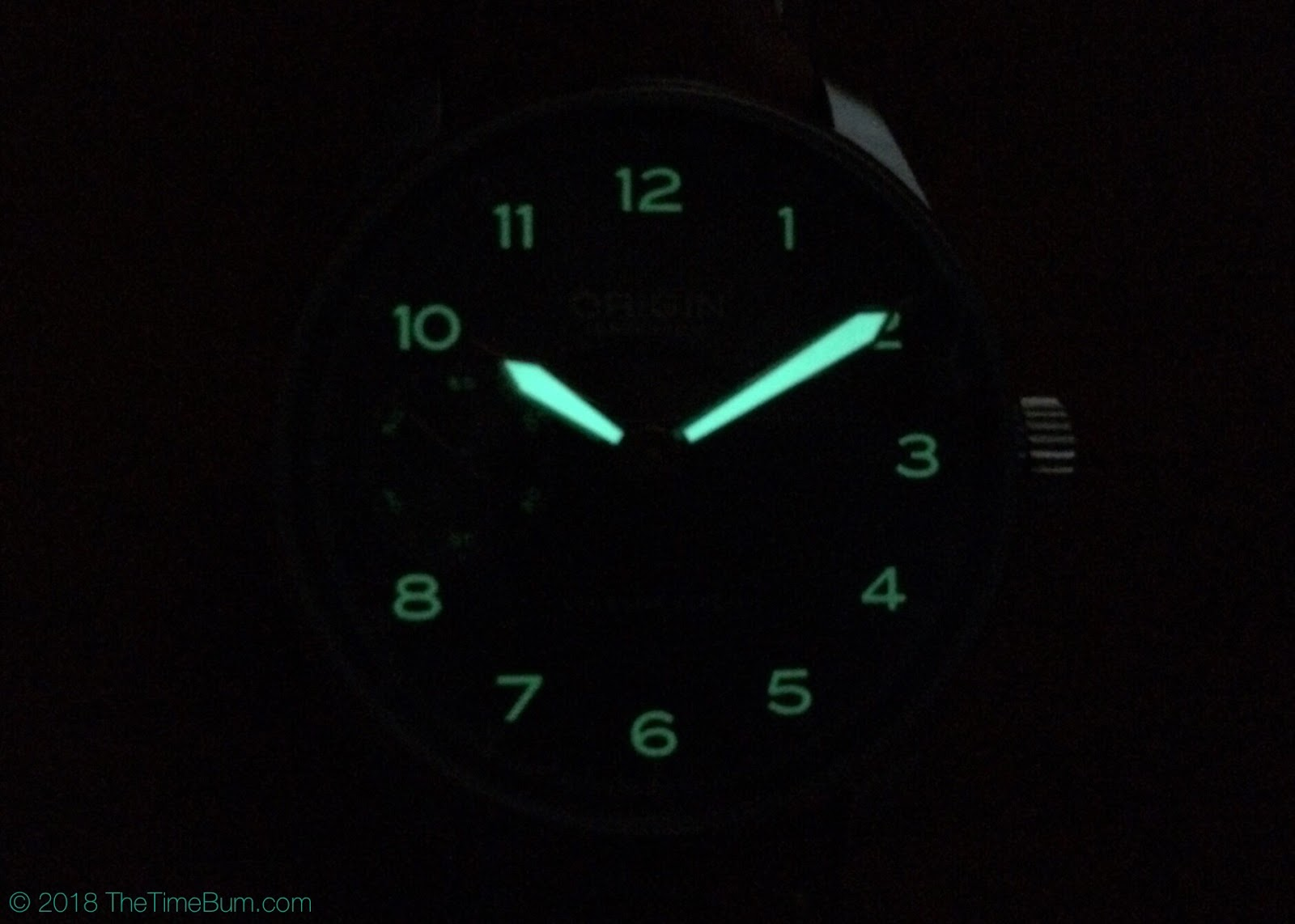 Origin Watch Company Field Watch 2nd Edition lume