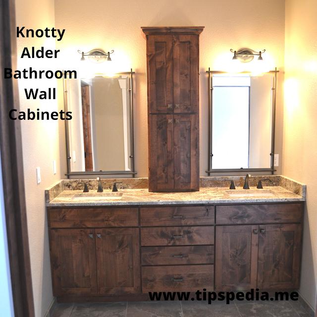 knotty alder bathroom wall cabinets