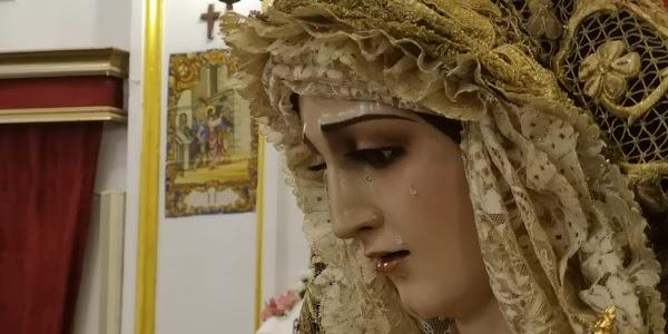 Reposición al culto de María Santísima de las Penas,  titular dolorosa de la Archicofradía de la Palma de Cádiz.