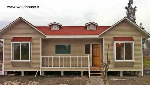 Modelo de casa americana de madera chilena