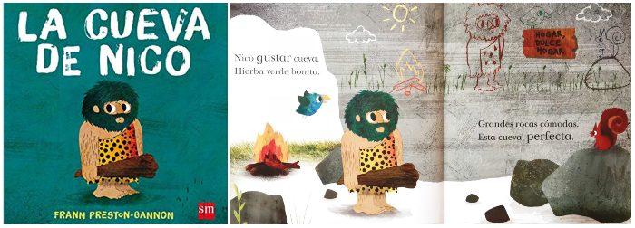 cuento infantil prehistoria La cueva de Nico SM