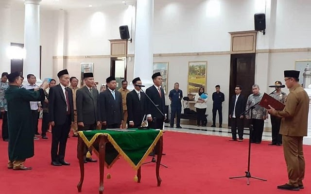 Hilman Kembali Dilantik Jadi Komisi Informasi Provinsi Banten