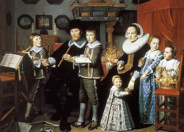 Michiel van der Dussen com sua família. Hendrick Cornelisz Van Vliet (1611/1612 - 1675) Gemeente Musea Delft.