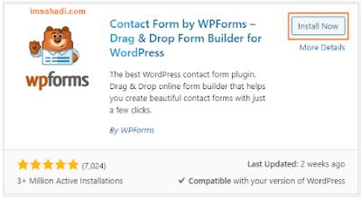 instal plugin wpforms
