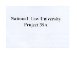 Position of Litigation Head at National Law University for Project 39A -last date  2nd June 2019