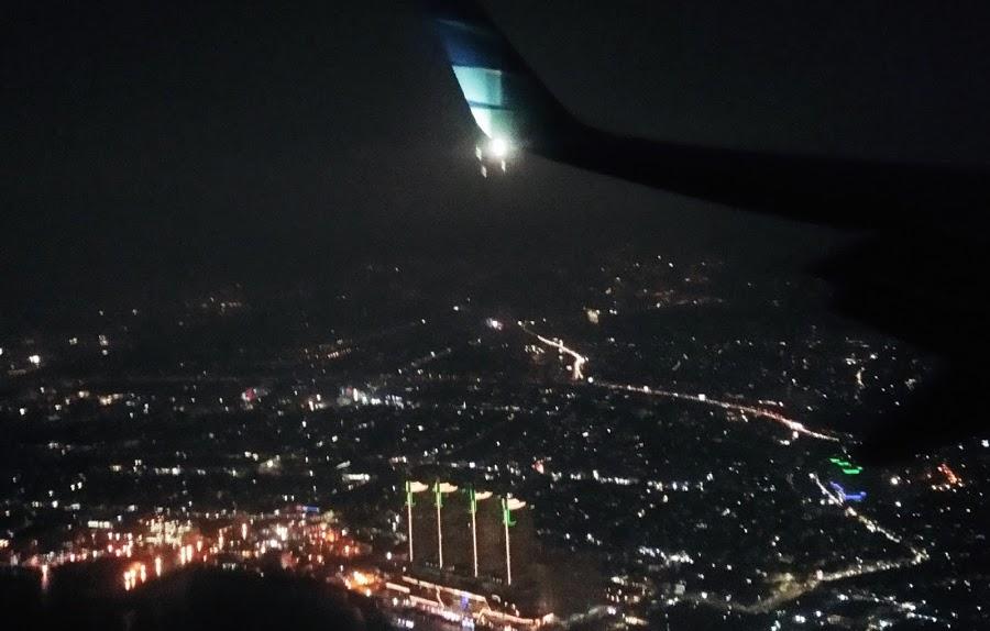Kota Malam Hari — foto dari pesawat, Banjarmasin-Jakarta 4 Desember 2019