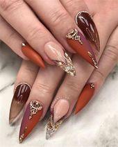 2020 Trendy Stiletto Nails Art ~ Switch Afrique