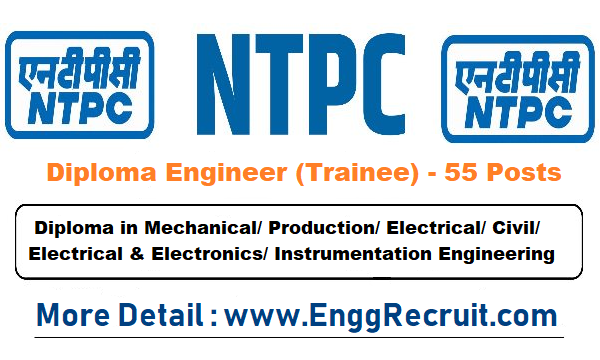 NTPC Recruitment 2018 for Diploma Trainee