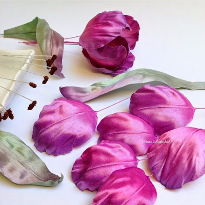 как сделать тюльпан из шелка