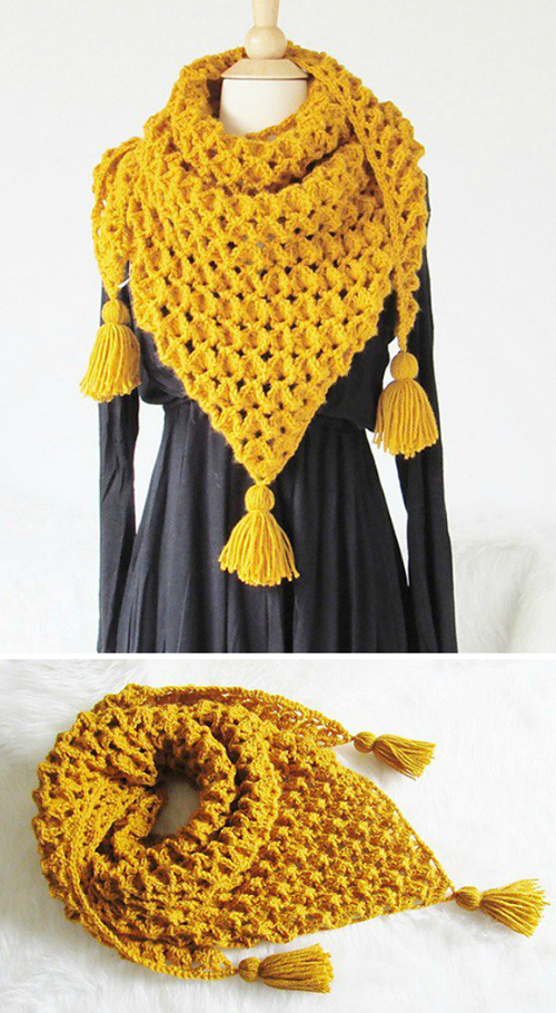 Rose Petals Scarf - Free Crochet Pattern