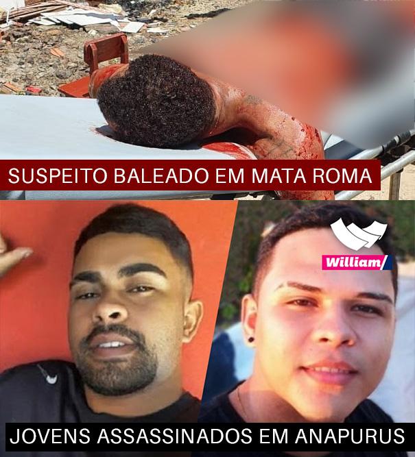 Suspeito de matar dois jovens em Anapurus é baleado em confronto com a PM em Mata Roma