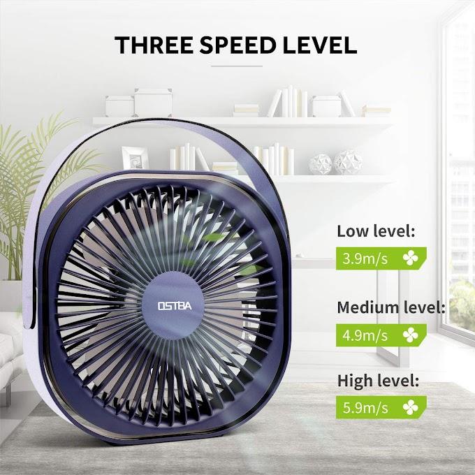 AMAZON - 39% off 6 Inch Rechargeable Battery Powered Mini USB Fan
