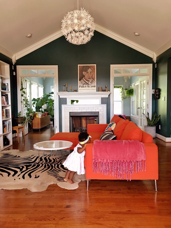 Colorful living room- design addict mom
