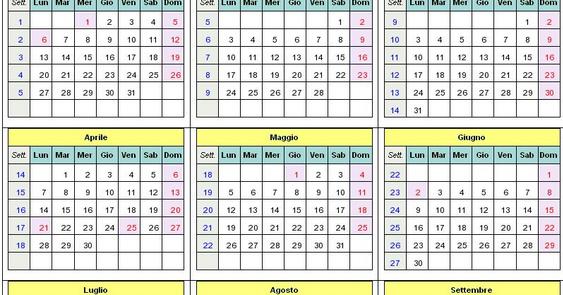 Calendario Trimestrali.Calendario 2017 Da Scaricare E Stampare Scuolissima Com
