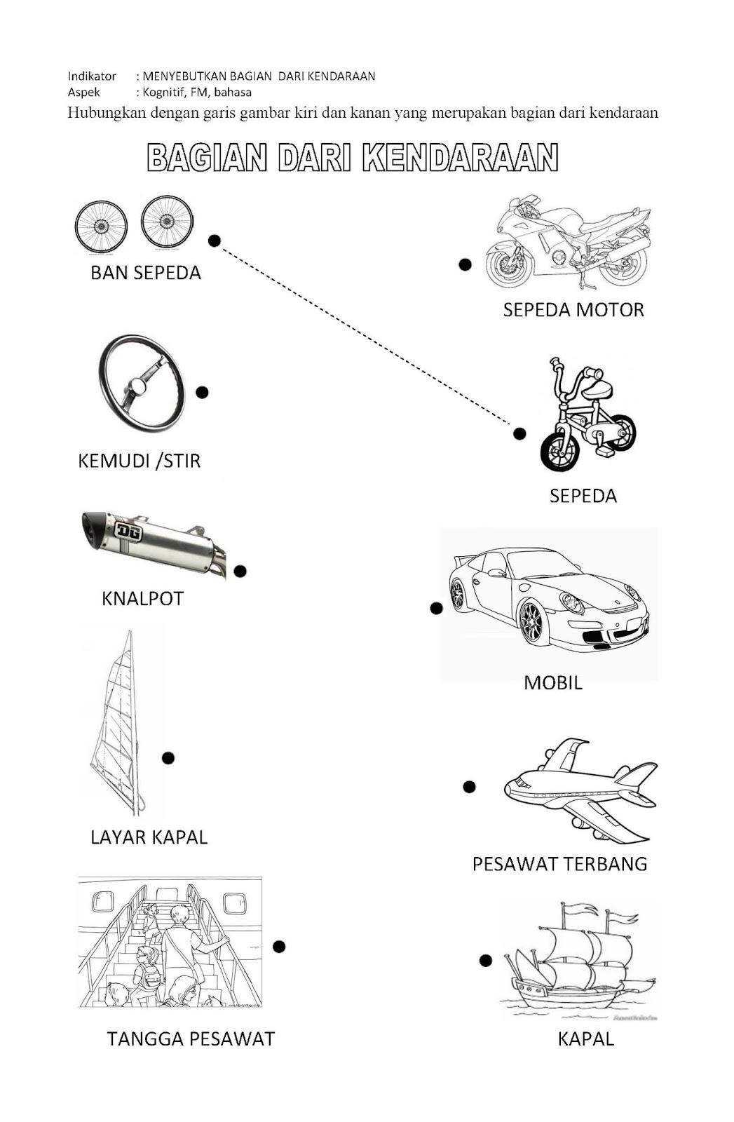63 Gambar Anak Tk Tema Kendaraan Kekinian Infobaru
