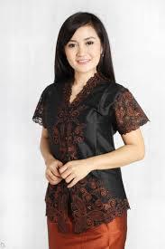 Baju Kebaya Warna Hitam Lengan Pendek Terbaru