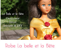 couture robe jaune La Belle et la Bête